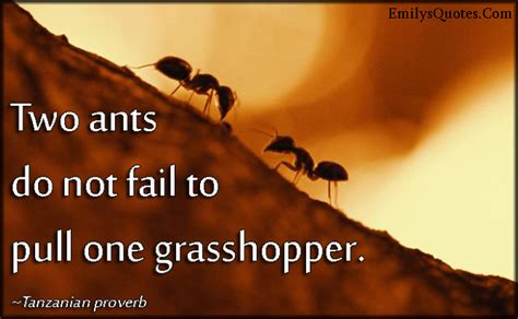 Two ants do not fail to pull one grasshopper | Popular