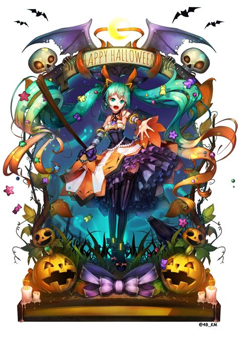 Wallpaper Hatsune Miku, Halloween 2016, Pumpkins, Dress