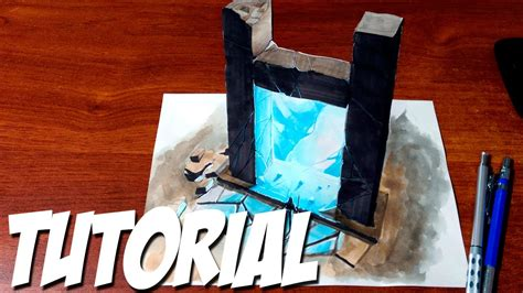 How to Draw a 3D Magic Portal - YouTube
