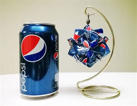 Pop Can Origami - Pepsi - Upcycled, Recycled, Repurposed