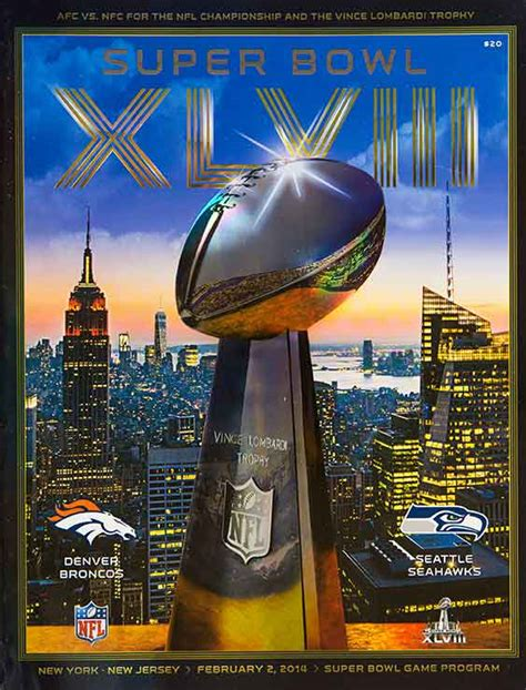 51 years of Super Bowl game programs