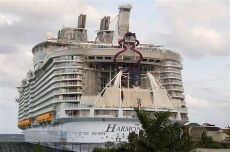 World's largest cruise ship docks at Falmouth port