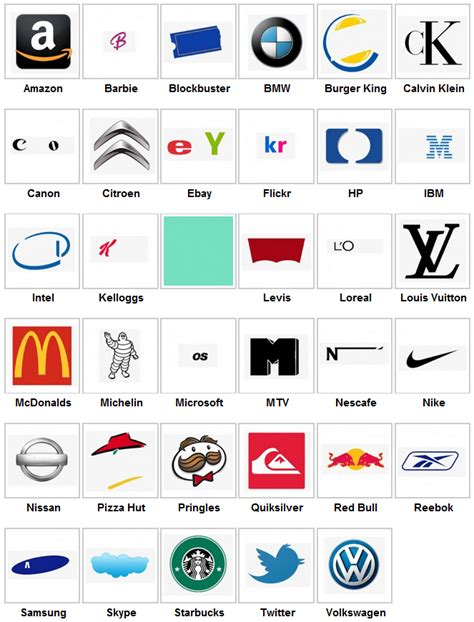 Logo Quiz Answers Level 1 - Games-Answers