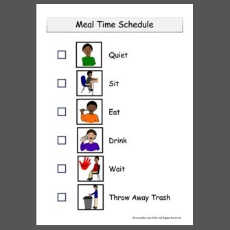 CCSD SNP Meal Time Schedule