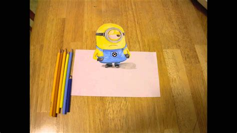 3D Minion Drawing - YouTube